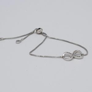 ininity style bracelet in silver