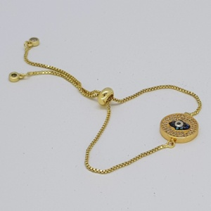 eye style bracelet in gold