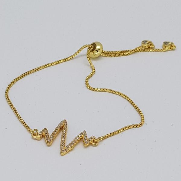 lightning style bracelet in gold