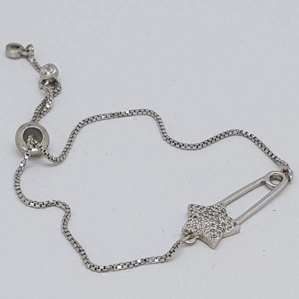 star style bracelet in silver